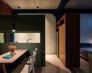ห้องพักโทนสีเขียว
