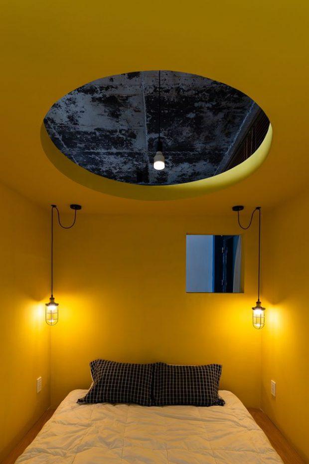 ห้องนอนธีมสีเหลือง