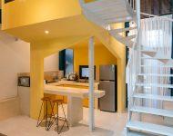 ห้องครัวธีมสีขาวเหลือง