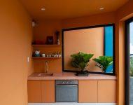ห้องธีมสีส้มอิฐ