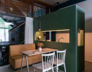 ห้องพักธีมสีเขียว