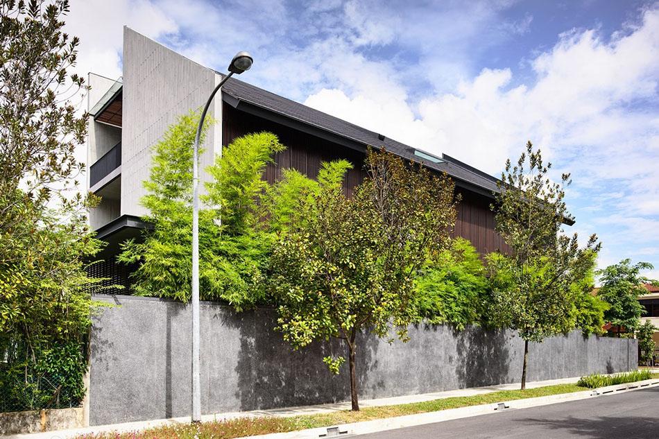 Modern Pitched Roof สถาปนิกออกแบบบ้าน