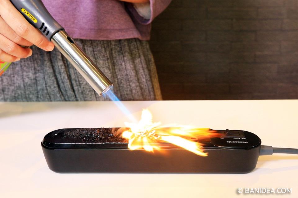 พลาสติกทนไฟ ทดสอบเผาจริง