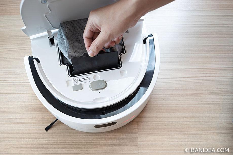 ถังเก็บขยะในหุ่นยนต์ดูดฝุ่น