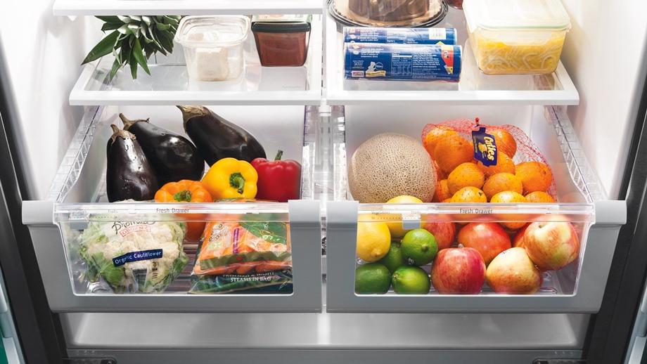 เก็บผักในตู้เย็น