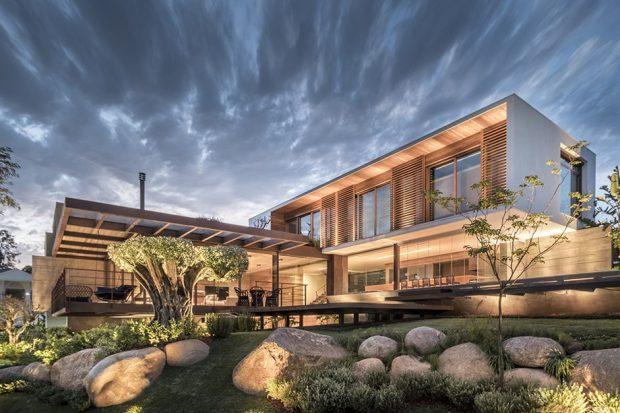 บ้านโครงสร้างเหล็กและคอนกรีต