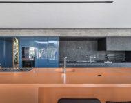 เคาน์เตอร์ครัวสีส้มฟ้า