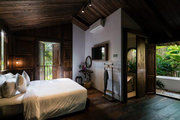ห้องนอนตกแต่งไม้