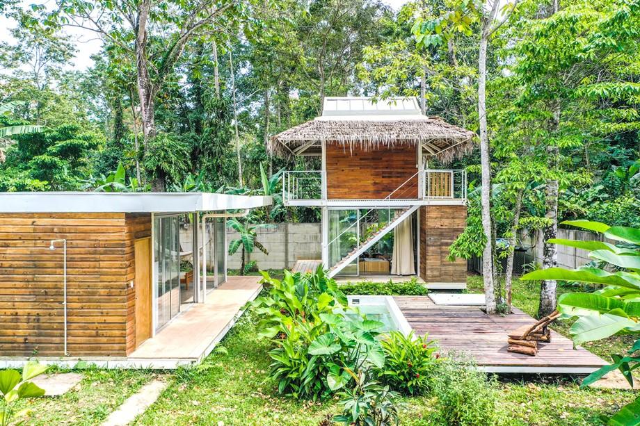 บ้านโครงสร้างเหล็กผนังธรรมชาติ