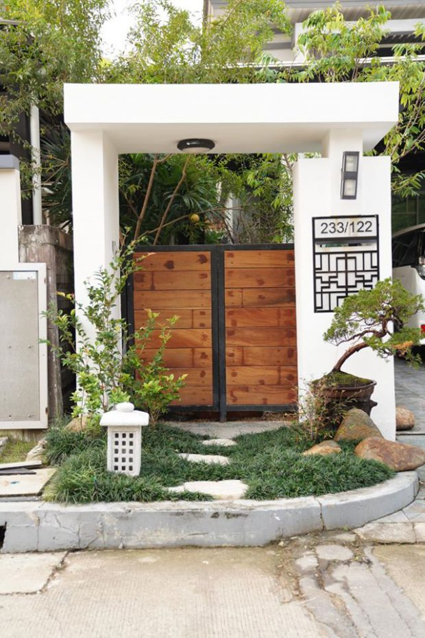 จัดสวนญี่ปุ่นเล็ก ๆ หน้าบ้าน