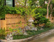 จัดสวนญี่ปุ่นข้างทางเข้าบ้าน