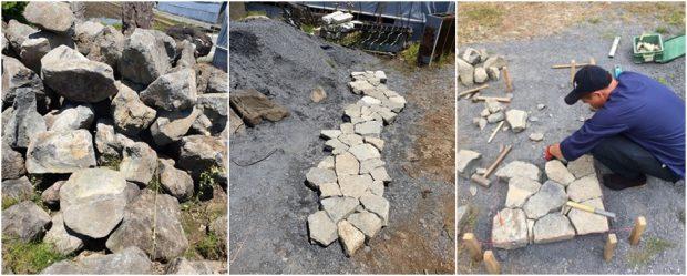 ขั้นตอนการสกัดและจัดเรียงหิน