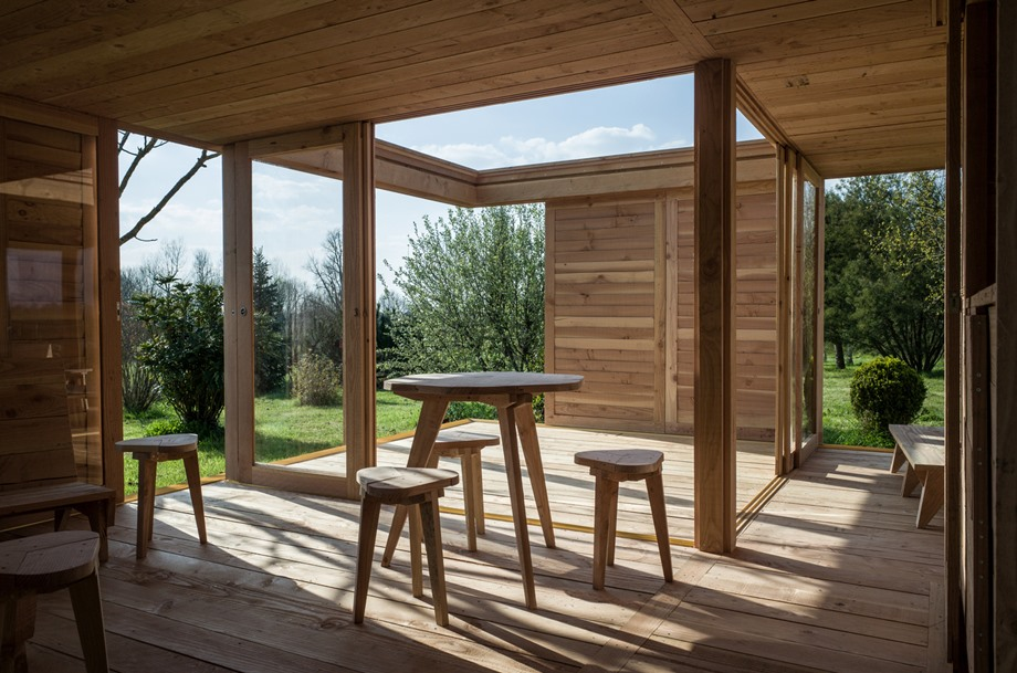 บ้านชั้นเดียวโครงสร้างไม้