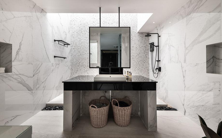 ห้องน้ำสไตล์ natural modern