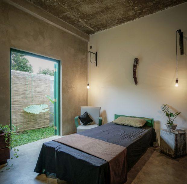 ห้องนอนเชื่อมต่อสวน
