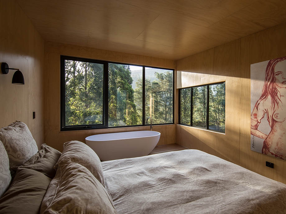 อ่างอาบน้ำในห้องนอน