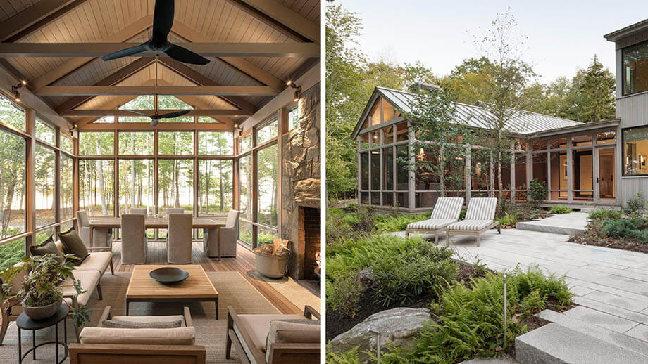 สร้างบ้านในป่า