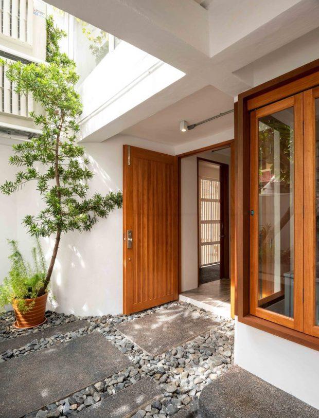 ประตูไม้ กรอบหน้าต่างไม้