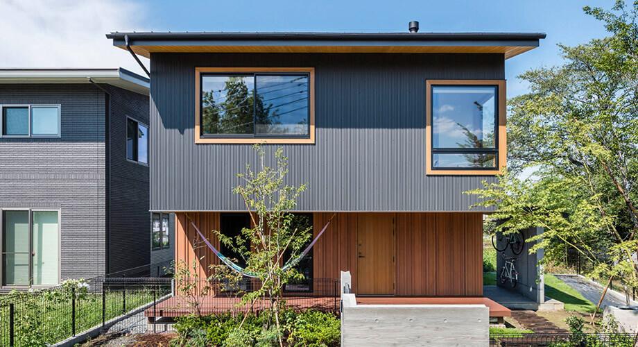 สร้างบ้านสองชั้นสไตล์โมเดิร์น