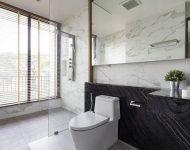 ห้องน้ำโทนสีดำขาวสไตล์โมเดิร์น