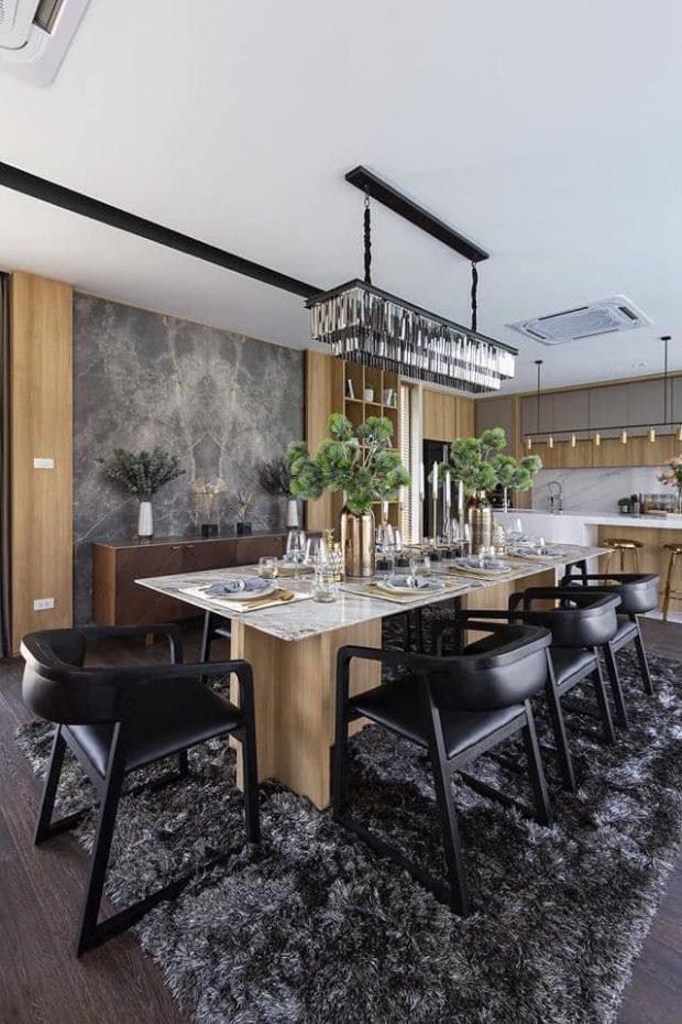 ครัวและห้องทานอาหาร Modern-luxury