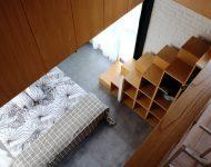 ช่องว่างโถงสูงในห้องนอน