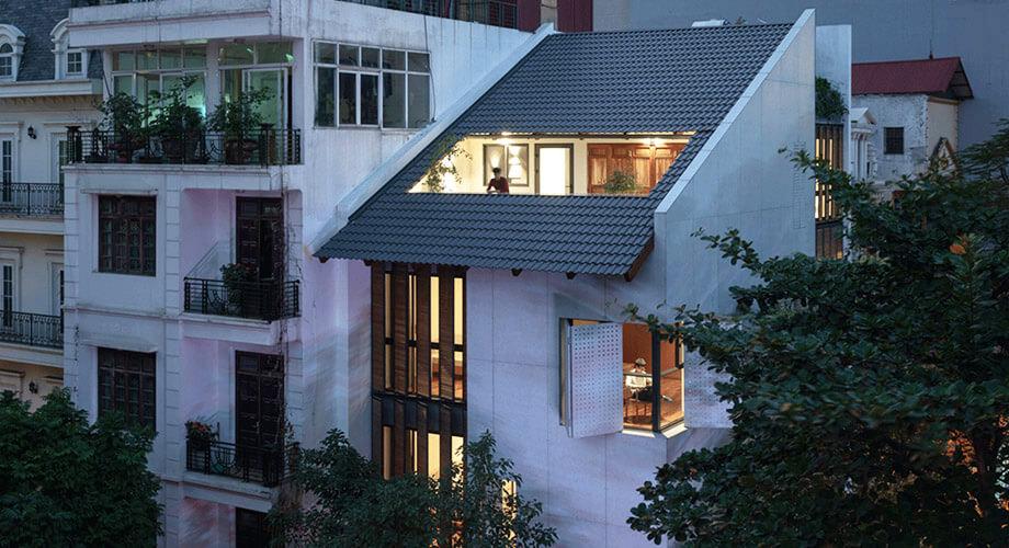 บ้านตึกในเมือง