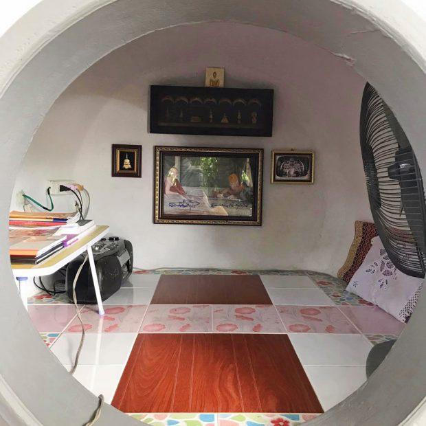 DIY ห้องสวดมนต์จากโอ่งซีเมนต์
