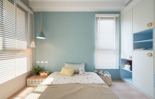 ห้องนอนเด็กสีฟ้า-ขาว