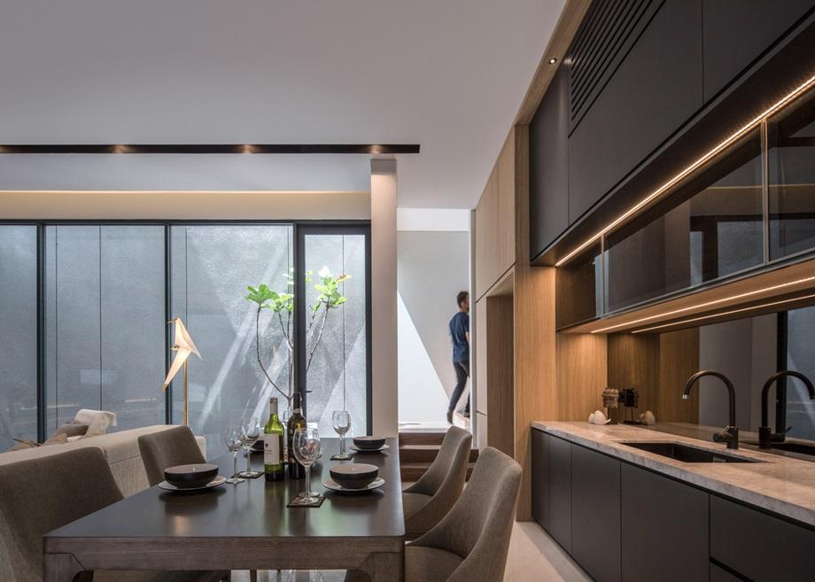 ห้องทานข้าวและครัวโมเดิร์น
