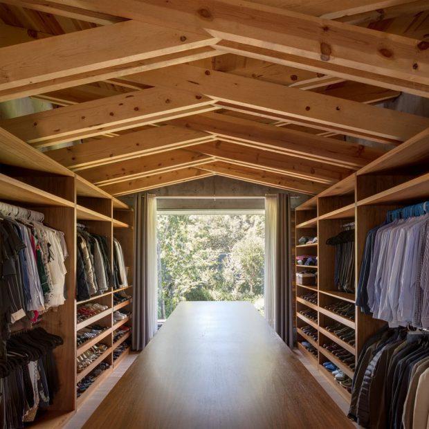 walk-in closet โครงหลังคาไม้ถัก