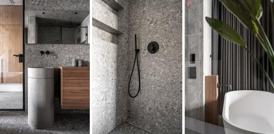 ห้องน้ำกระเบื้องลายหินขัด