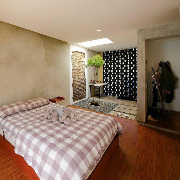 ห้องนอนมีสวนข้างใน