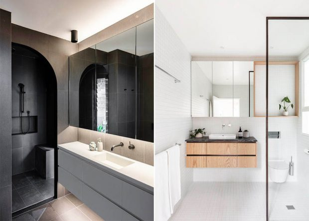 ห้องน้ำสีขาวดำ