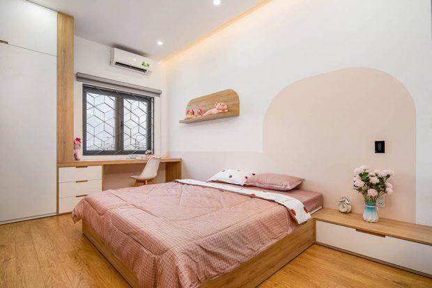 ผ้าปูที่นอนสีชมพู