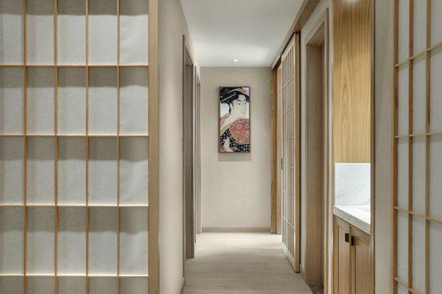 ประตูโชจิกรุกระดาษสาแบบญี่ปุ่น