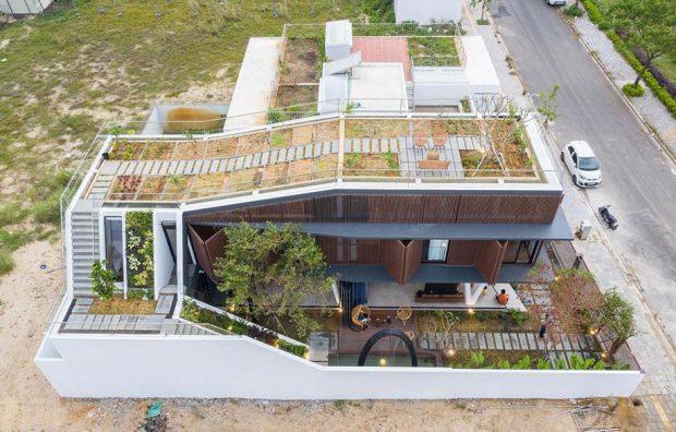 บ้านมีสวนบนหลังคา
