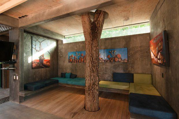 ต้นไม้ใหญ่เป็นส่วนหนึ่งของบ้าน