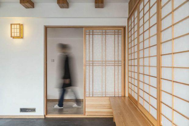 ประตูบานเลื่อนแบบญี่ปุ่น