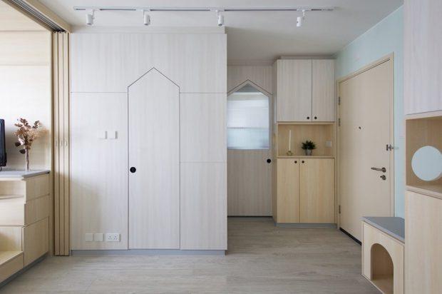 ตู้บิลท์อินบานประตูทรงบ้าน