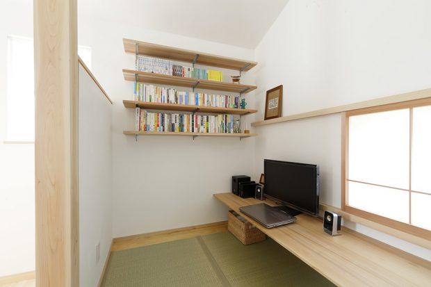 ห้องทำงานห้องอ่านหนังสือ