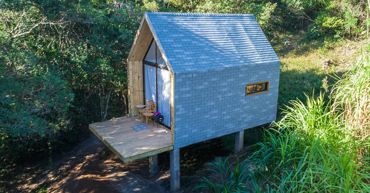 บ้านหลังเล็กในป่ากว้าง