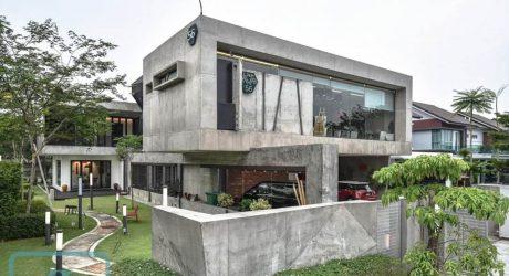 สร้างบ้านคอนกรีตสไตล์อินดัสเทรียล
