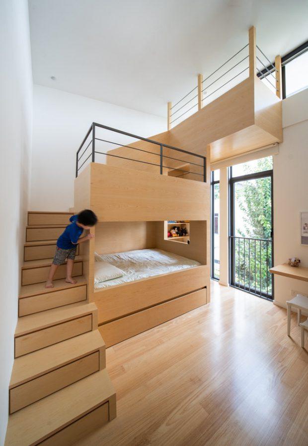 ห้องนอนเด็กมีเตียง 2 ชั้น