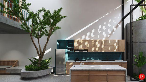 มิติของแสงและเงาในครัว