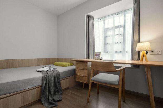ห้องนอนสไตล์โมเดิร์นมินิมอล