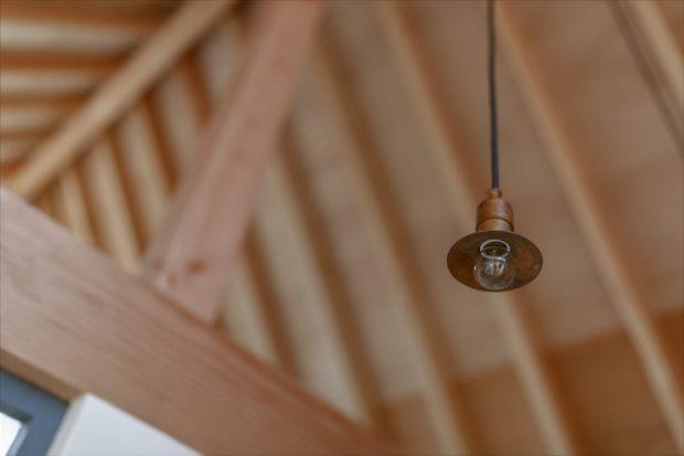 เพดานโชว์โครงสร้างไม้