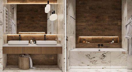 ตกแต่งห้องน้ำด้วยไม้
