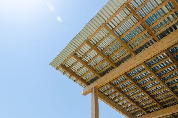หลังคาเทัลชีทโครงสร้างไม้