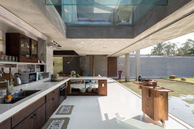 บ้านโถงสูง Double Space ผนังกระจก